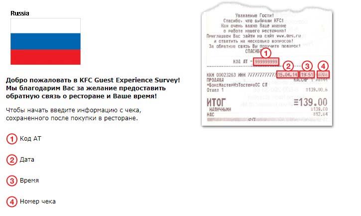 Как отставить отзыв о KFC
