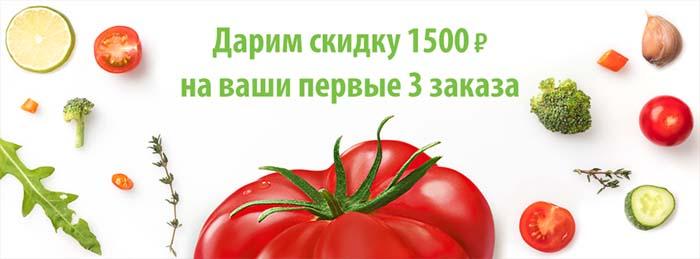 Дарим скидку на 1500 рублей на Ваши первые три заказа
